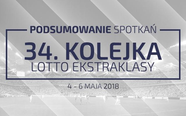 34. kolejka 2017/18 – podsumowanie spotkań