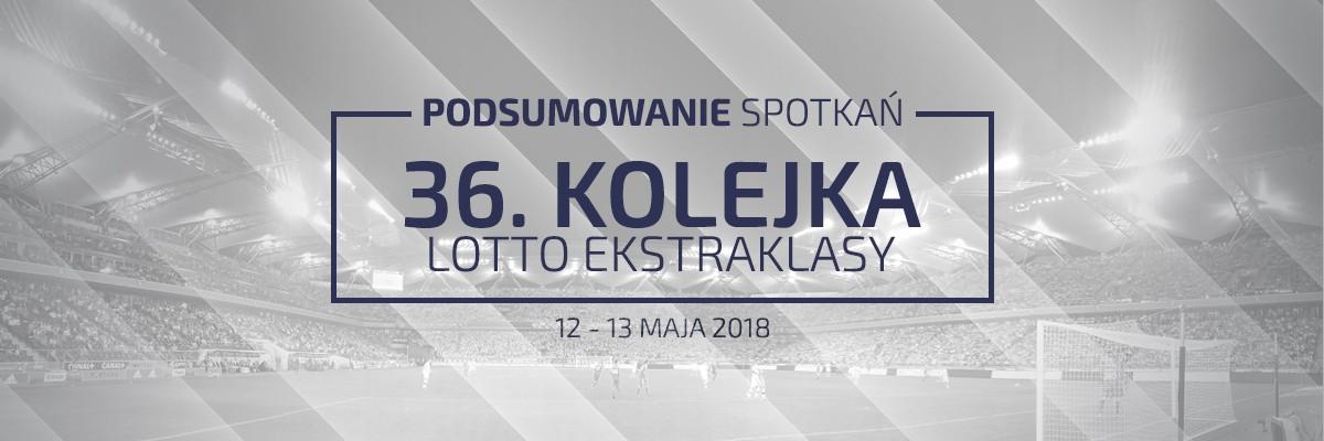 36. kolejka 2017/18 – podsumowanie spotkań