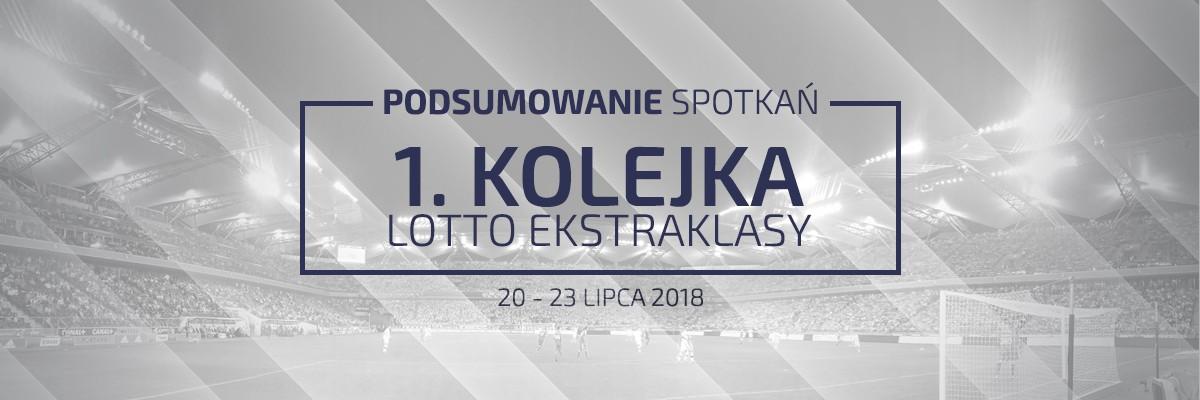 1. kolejka 2018/19 – podsumowanie spotkań