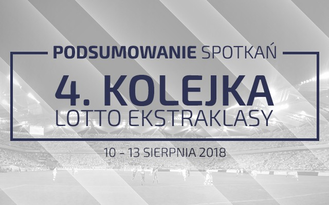 4. kolejka 2018/19 – podsumowanie spotkań