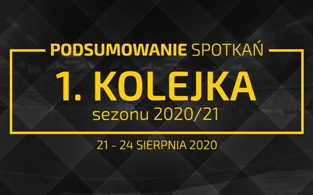 1. kolejka 2020/21 – podsumowanie spotkań