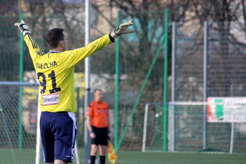 Konrad Jałocha w meczu z Cracovią