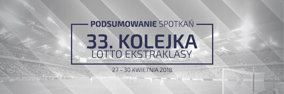 33. kolejka 2017/18 – podsumowanie spotkań